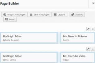 WordPress PlugIn : SiteOrigin Layouter