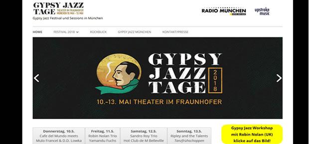 Gypsy Jazz – Microsite