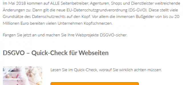 DSGVO konforme Datenschutzerklärung